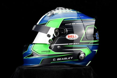 Custom Painted Bell GP.3 Racing Helmet by Veneratio Designs