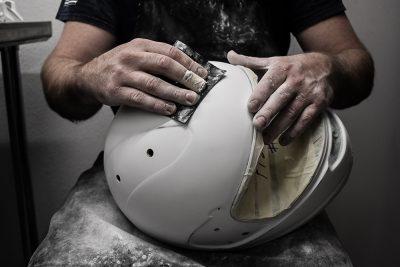 custom painted racing helmet design