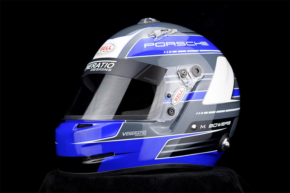 Custom Painted Porsche Racing Helmet