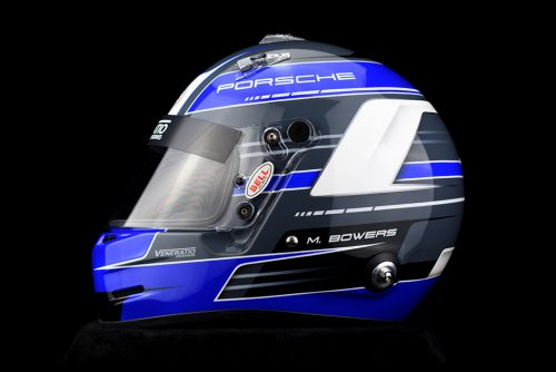Custom Painted Porsche Racing Helmet