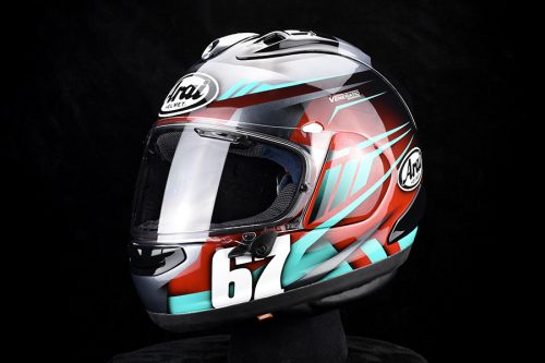 Davis Fishers Custom Painted Arai Corsair-X
