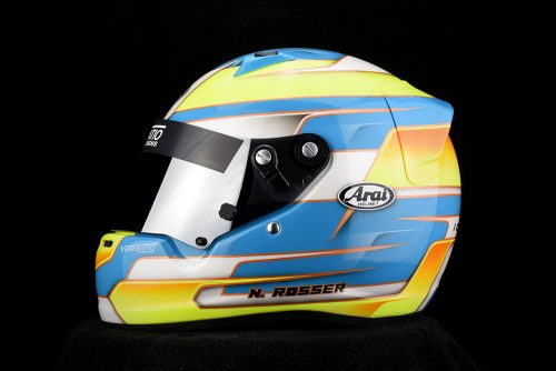Custom painted Arai CK-6 by Veneratio Designs