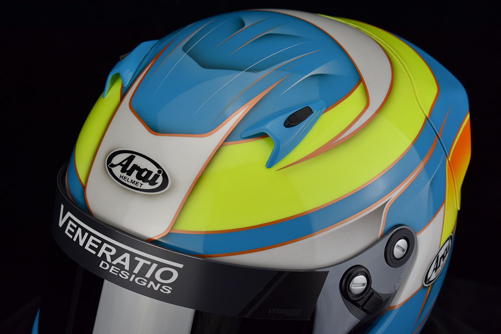 Custom painted Arai CK-6 by Veneratio Designs