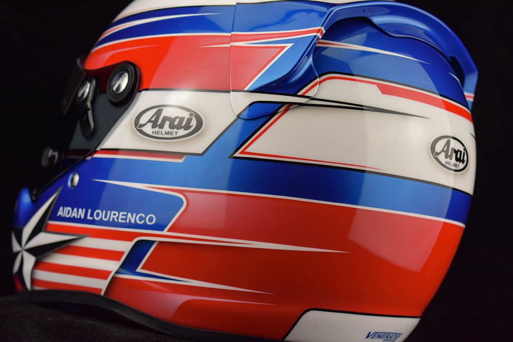 Custom Painted Arai CK-6 Racing Helmet