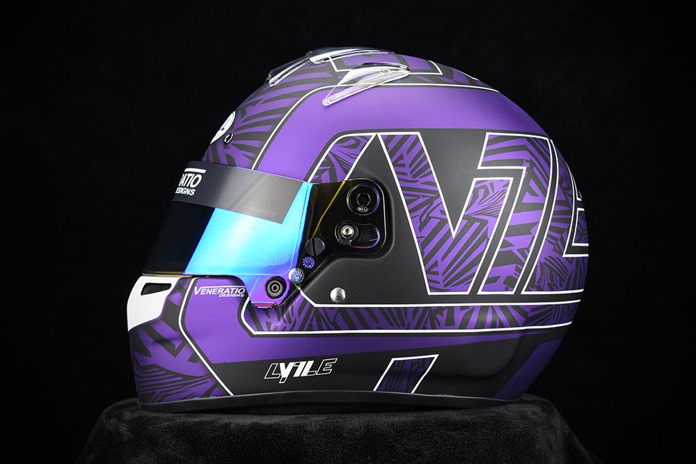 Custom Painted Bell RS7-K Racing Helmet