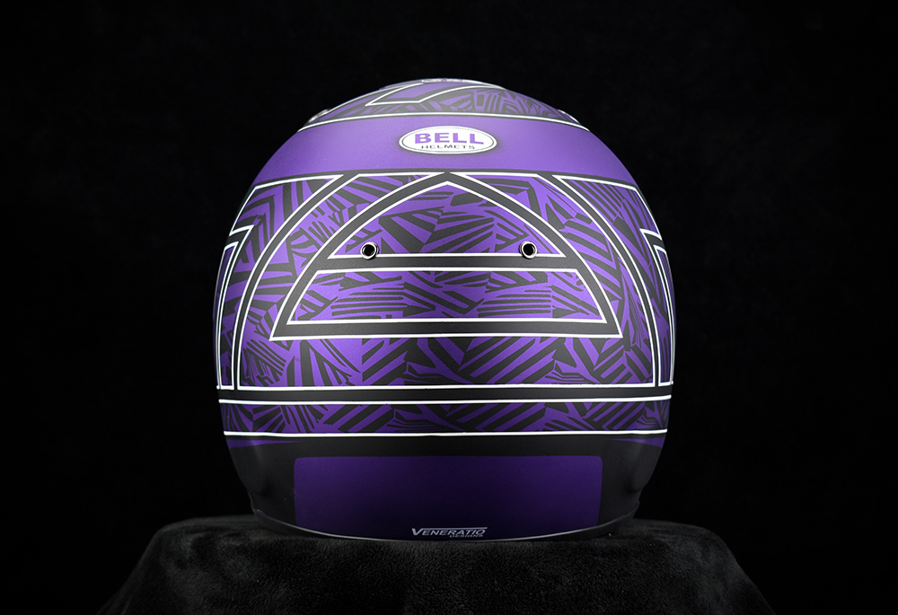 Custom Painted Bell RS7-K Racing Helmet