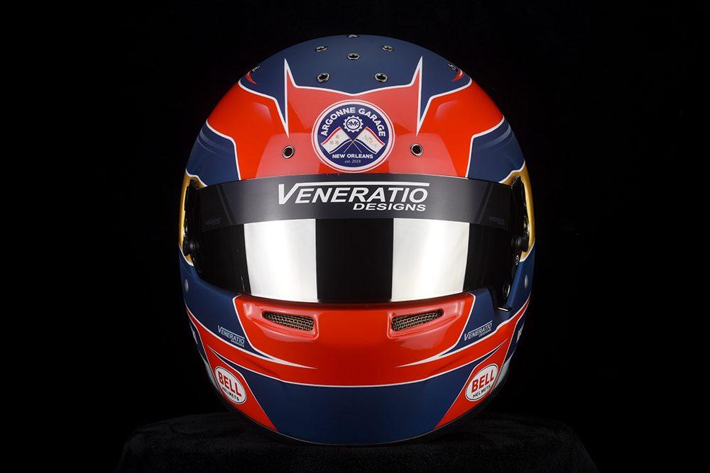 Custom Painted Bell RS7 Racing Helmet
