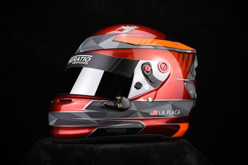 Custom painted Arai SK-6 by Veneratio Designs