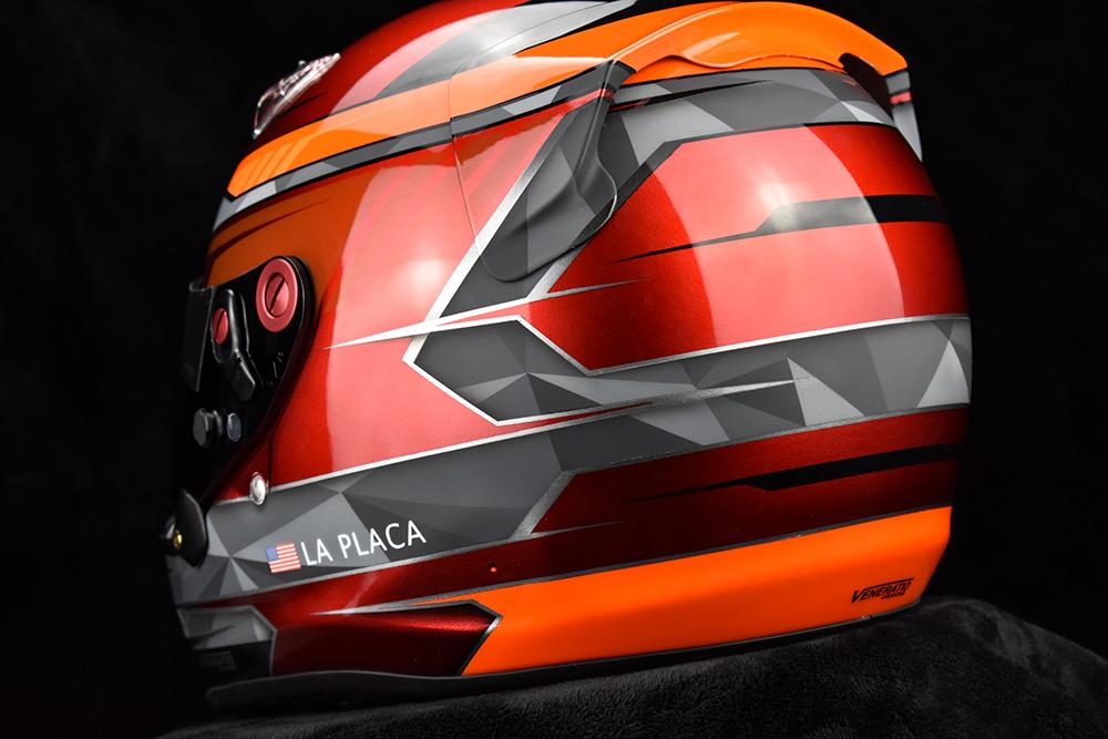 Custom painted Arai SK-6 by Veneratio Designs