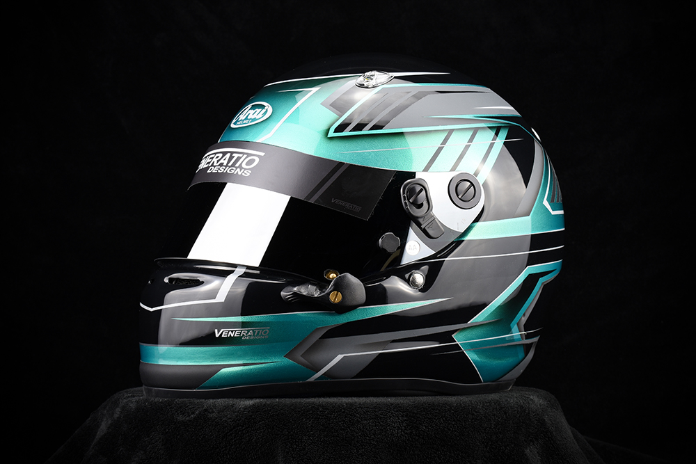Custom painted Arai SK-6 Karting Helmet
