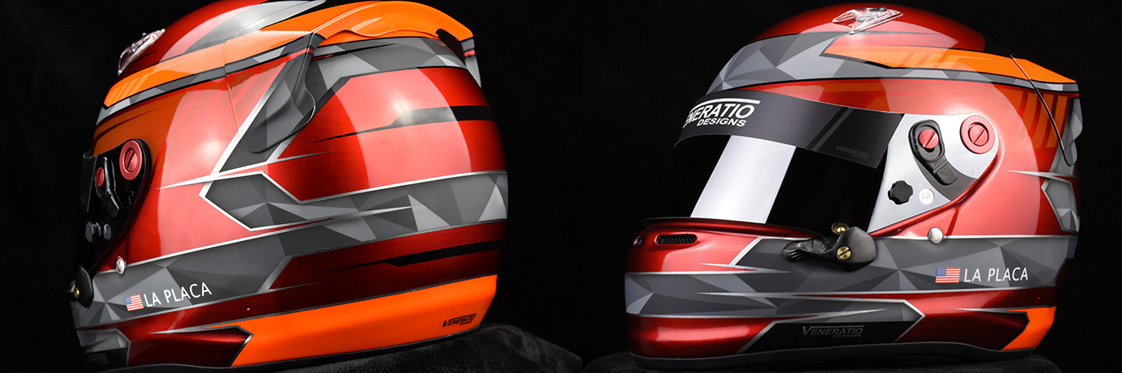 Custom racing helmet painting