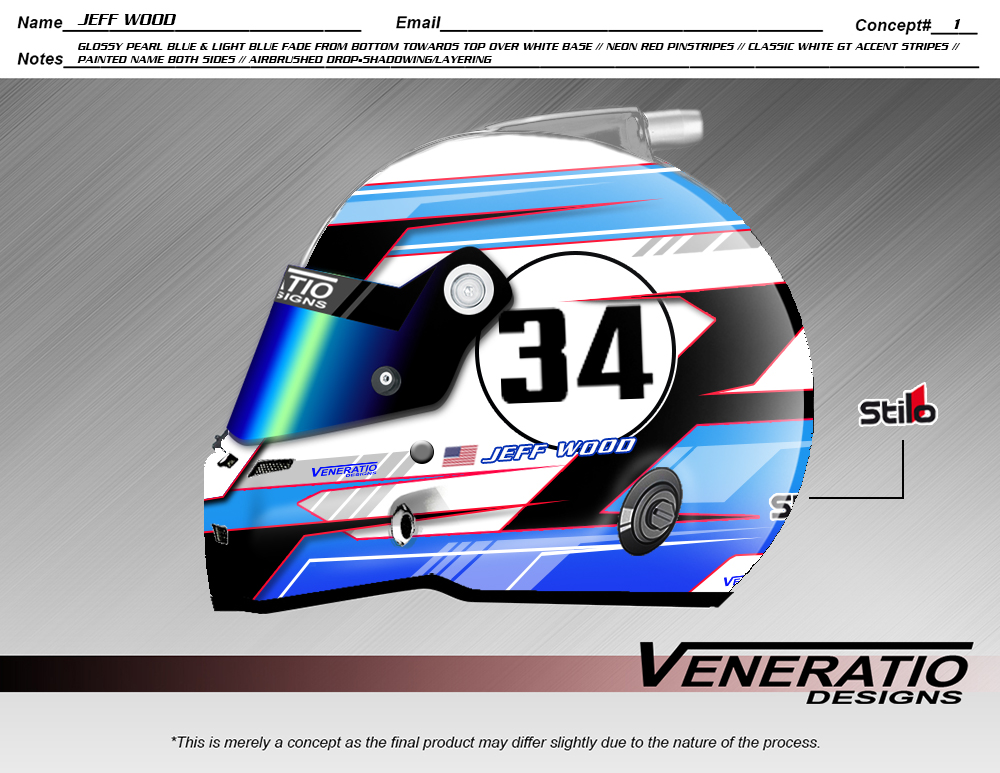 Custom helmet painting by Veneratio Designs