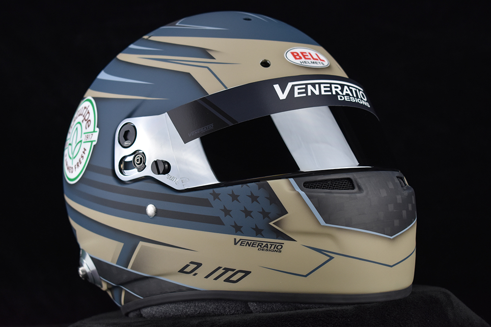 Custom painted Bell RS7C LTWT by Veneratio Designs