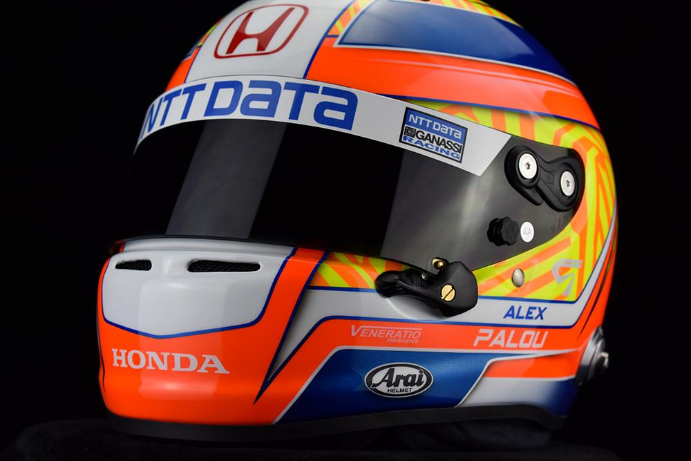 Alex Palou's 2021 IndyCar Helmet