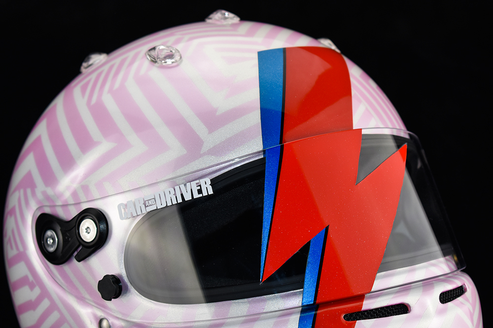Car and Driver Lightning lap helmet