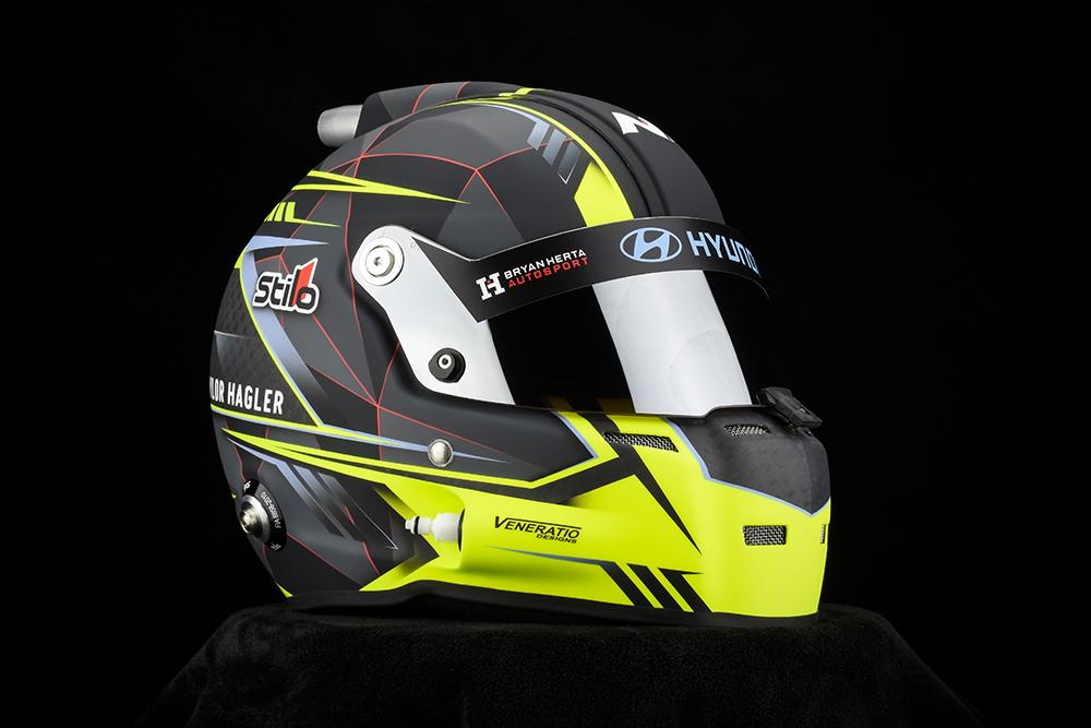 Taylor Hagler's Stilo ST5 GT Zero racing helmet