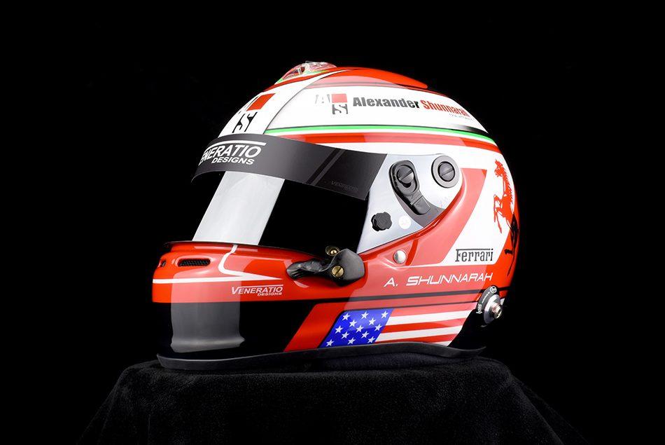 Custom painted Ferrari Helmet