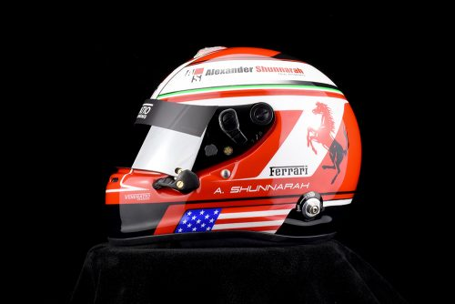 Custom painted Ferrari helmet