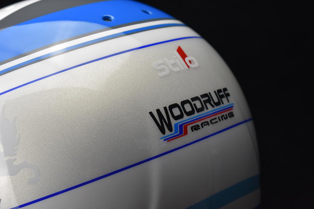 Pearl white custom helmet