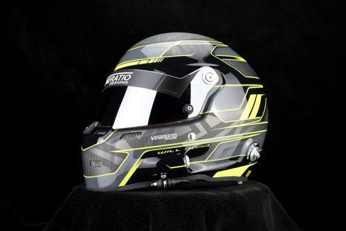 Custom painted Stilo racing helmet