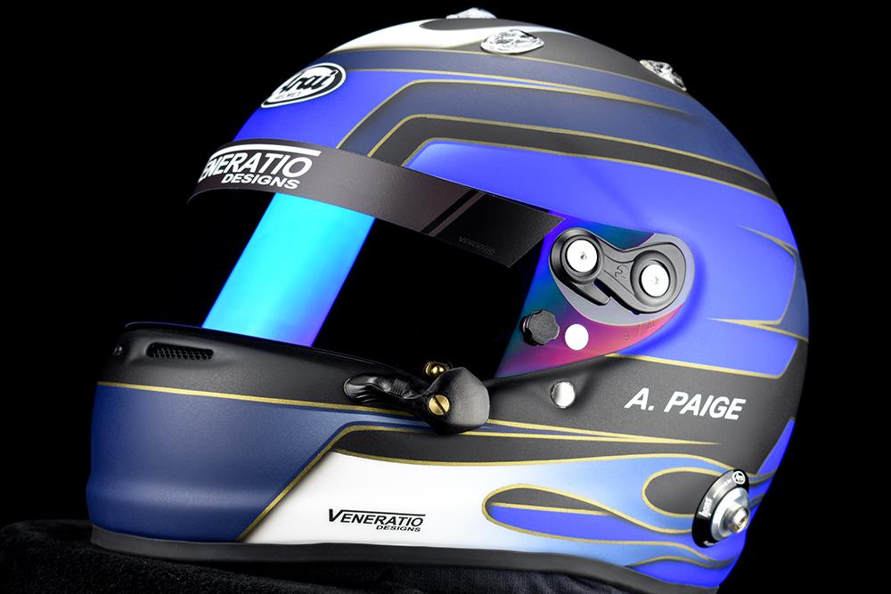 Custom painted Arai GP-7 racing helmet