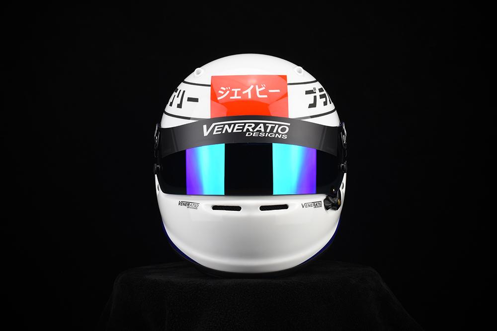 Custom painted Arai SK-6 karting helmet