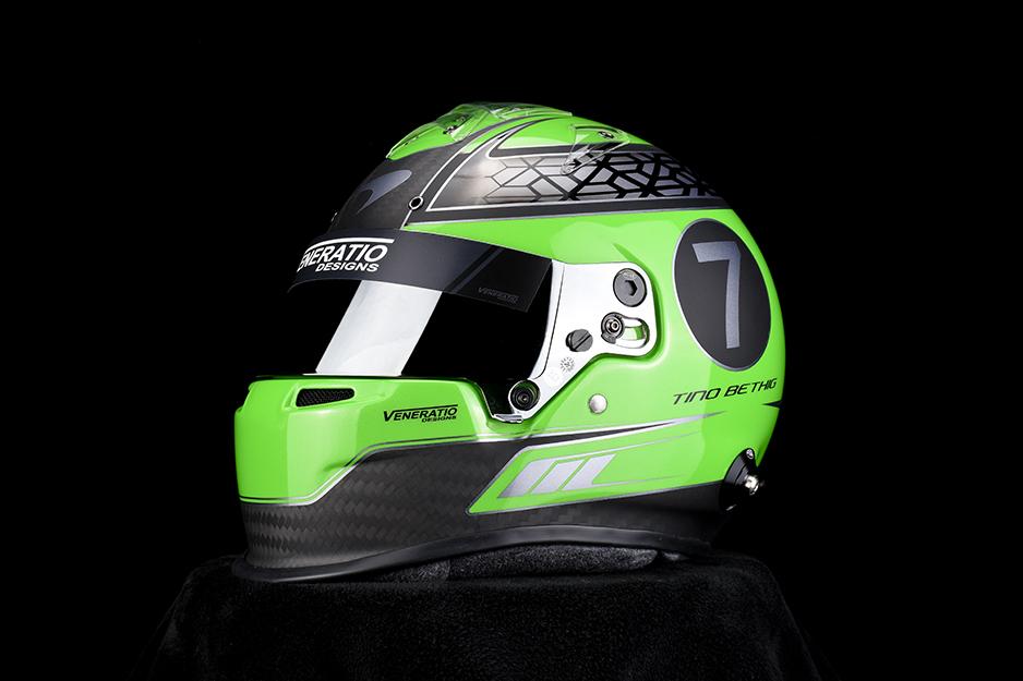 Custom painted McLaren racing helmet