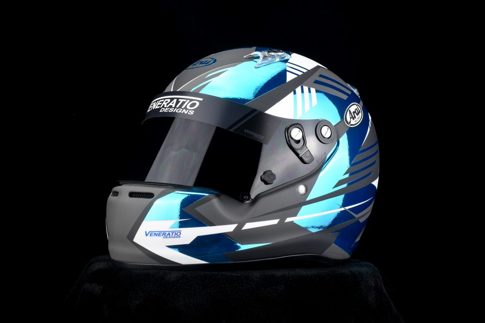 Custom painted Arai CK-6 kart racing helmet