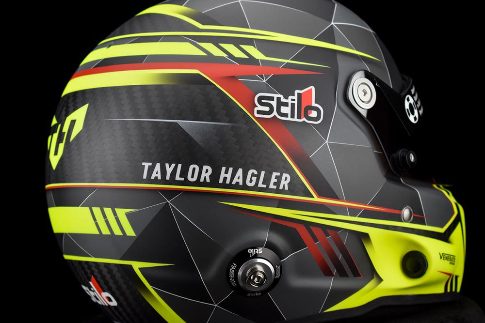 Taylor Hagler's 2021 Stilo racing helmet