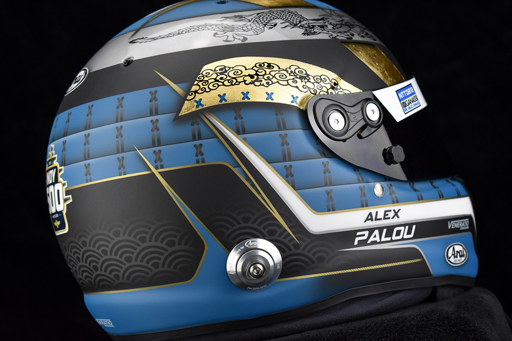 Alex Palou's 2021 Indy 500 Helmet